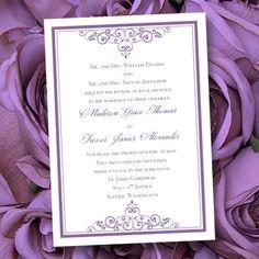 Purple Lavender Wedding Invitations Vintage  by WeddingTemplates, $8.00