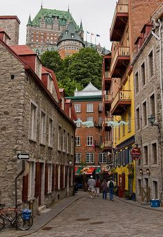 .~Chateau Frontenac above the old town of Quebec City~.