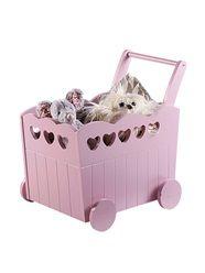 Caixa de arrumação com rodas, para quarto de bebé