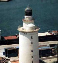Faro de La Farola. Puerto de Málaga / Andalucía / Spain
