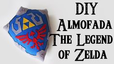 DIY: Almofada Escudo do Link - THE LEGEND OF ZELDA | Ideias Personalizad...