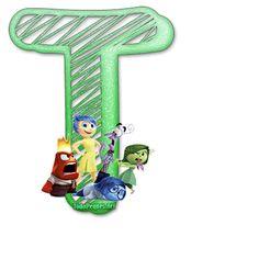 Letras  de IntensaMente Abc For Kids, Teaching Methods, Tricks, Party Time, Symbols, Template, Design, Tadashi, Decorations