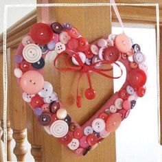 Cute and simple valentine wreath!