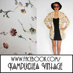 Vintage Floral Print Oversized Cream Shirt Womens 12 - 90s Kitsch Indie FREE P BIIIG oversized style shirt in a beautiful cream and florals print, reminiscent of your gran's couch! Looks killer layered over the top of a tee and cut offs with black biker boots for some 90s grunge action. POW! £9.90