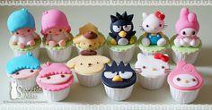 Little twins star, Purin, Badte-maru (XO), Hello Kitty, My Melody http://www.facebook.com/SweetieNeko