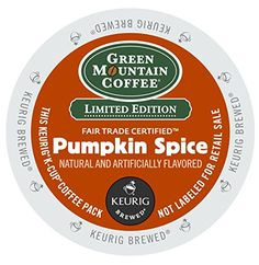 Green Mountain Coffee KCup 18 Count Pumpkin Spice Packaging May Vary -- Learn more by visiting the image link. Note: It's an affiliate link to Amazon.