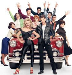 The cast of Fox's Grease: Live!