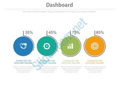 four circles with percentage icons dashboard chart powerpoint slides Slide01