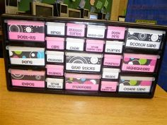 great idea-use a tool box from a hardware store to organize supplies! school-ideas