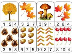 ESOS LOCOS BAJITOS DE INFANTIL: JUEGO MATEMÁTICO DE OTOÑO Fall Preschool Activities, Preschool Education, Preschool Math, Teaching Kindergarten, Toddler Activities, Fall Arts And Crafts, Autumn Crafts, Tree Study, Kids Math Worksheets