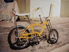"A classic 1969 Schwinn Sting Ray ""Lemon Peeler"" Stick Shift bike"