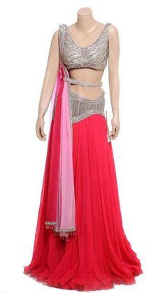 Pink color Reception wear lehenga choli