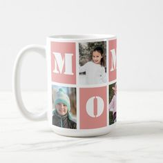 Ad: 5 Photo Collage Heart Blush Pink Mother's Day Coffee Mug #5 #photo #collage, #custom #coffee #mug, #mother's #day #gift, #gift #for #mom, #add #your #photos, #blush #pink, #best #mug #CoffeeMug Mothers Day Gifts From Daughter, Mothers Day Cards, Happy Mothers, Mother Day Gifts, Custom Photo Mugs, Custom Mugs, Gifts In A Mug, Gifts For Mom, Coffee Gifts