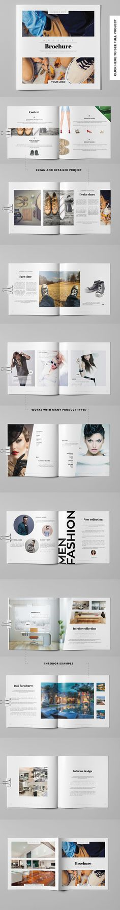 Product Brochure / Catalog by Kahuna Design on @creativemarket