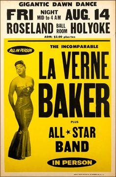 1959 LaVern Baker Concert Poster (they misspelled her name!) love her
