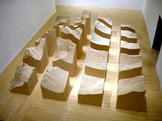 I love art that quantifies, maps, delineates, defines. Maya Lin's connection to physical spaces produces fascinating artistic explorations. Landscape Model, Landscape Architecture, Sculpture Art, Sculptures, Maya Lin, Architectural Scale, Shadow Images, Artistic Installation, Baltic Birch Plywood