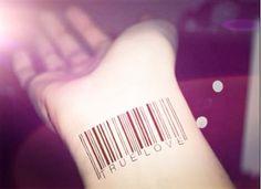 3pcs Barcode Set tattoo - InknArt Temporary Tattoo - wrist quote tattoo body sticker fake tattoo wedding tattoo small tattoo