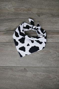 "Dog Bandana - Pet Bandana - Tie On Bandana - Cow Print Bandana - ""Moo"" Bandana Print, Dog Bandana, Cow Print, Bandanas, Cow Outfits, Pup, Cow Decor, Cow Pattern, Big Huge"
