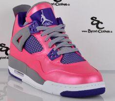 Casual Shoes - Girls Air Jordan 4 Retro GS