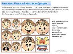 Autismus Arbeitsmaterial: Puppen für Emotionen Theater