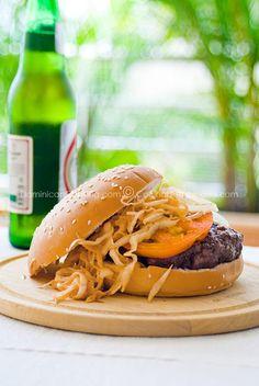 Chimichurri (Dominican hamburger)