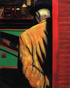 Saturnino Ramirez, Untitled (Pool Hall), Oil Painting