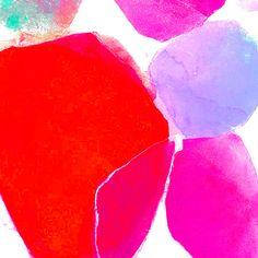 Modern Botanical-Modern Art Pint-Fine Art Print -8x10-Contemporary--Orange Red-Fuschia-Lilac-Pink-Minimalist