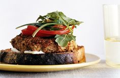Bulgur Veggie Burgers with Lime Mayonnaise from Epicurious.com #myplate #protein