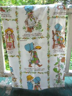 Vintage Holly Hobbie Twin Fitted Sheet by American by corrnucopia