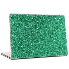 Emerald Green  Glitter Laptop Skin extra fine by IridescentBeauty, $40.00 - Love! Glamorous and affordable.