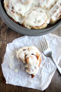 Take the morning slow with some cinnamon rolls.