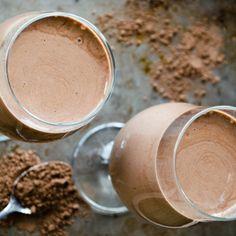 Raw Chocolate Smoothie Recipe with Avocado, Almond Milk and…
