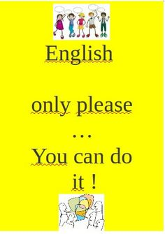 Advising Poster to speak in English in class