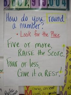 Rounding- Anchor Chart by willie