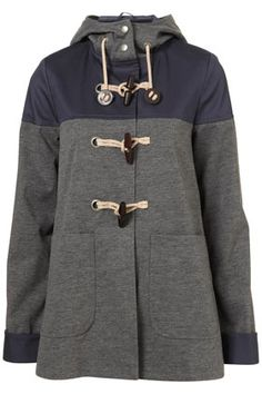 More fall cozies!  Coveting: Cotton Hooded Contrast Duffle Coat