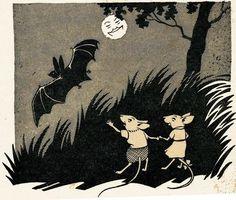 I think the bat makes an adorable Halloween addition! Botanical Illustration, Illustration Art, All Bat, Dark Art Illustrations, Halloween Pictures, Halloween Bats, Black And White Sketches, Woodland Creatures, Sacred Art