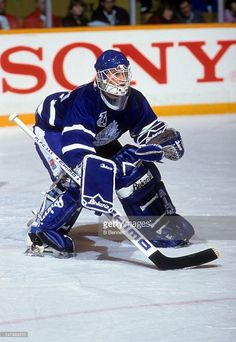 goalie-felix-potvin-of-the-toronto-maple-leafs-defends-the-net-during-picture-id147493310 (706×1024) Hockey Goalie, Hockey Games, Ice Hockey, Maple Leafs Hockey, Goalie Mask, Felix The Cats, Good Old Times, Toronto Maple Leafs, Detroit Red Wings
