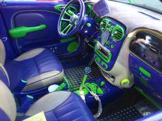 Custom purple and green PT Cruiser - Anaheim automotive ...