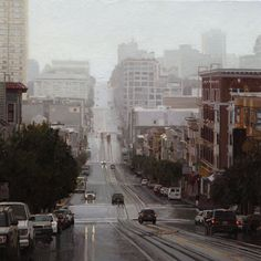 California Street Blues - 12 x 12, Oil on Panel by Greg Gandy