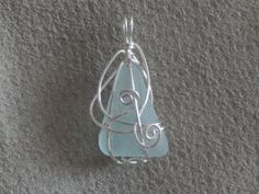 Items similar to Genuine Sea Glass Pendant on Etsy Jewelry Ideas, Unique Jewelry, Sea Glass Jewelry, Frost, Gems, Jewels, Trending Outfits, Pendant, Beach