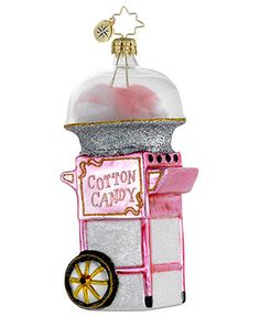 Christopher Radko Christmas Ornament, Fairground Favorite - Macy's (my favorite candy! how fun is this!)