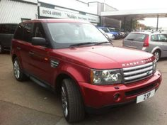 "2005 Range Rover Sport 4.4 4.2 V8 Supercharged 5-door auto. estate in red. 20"" alloys. Full main dealer sevice history."