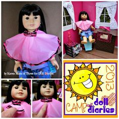Camp Doll Diaries – Make A Hair Styling Cape and Doll Salon Playset