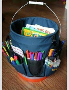 Home Depot bucket & tool organizer - great idea for kid's stuff