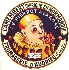 le Pierrot .... Camembert cheese advertisement... #vintage #emphemera
