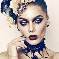 Todays look - Linda Hallberg Burlesque Makeup, Masquerade Makeup, Circus Makeup, Masquerade Ball, Cabaret, Rouge Makeup, Beauty Makeup, Eye Makeup, Doll Makeup