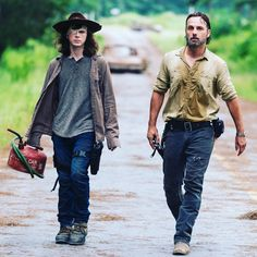 """""""Tomorrow... #thewalkingdead #season8 #skybound"""" - Chandler Riggs as Carl Grimes and Andrew Lincoln as Rick Grimes in The Walking Dead S8 Midseason Finale Ep08 """"How It's Gotta Be"""""""