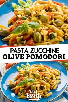 Chicken Penne Pasta with Bacon and Spinach in Creamy Tomato Sauce Spaghetti Salad, Pasta Salad, Penne, Italian Recipes, Risotto, Zucchini, Food And Drink, Olive, Lunch
