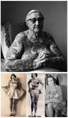 """Betty """"Tattooed Lady"""" Broadbent (1909 - 1983) - Find A Grave Photos"""