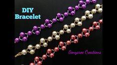Last Minute Christmas Gift Idea ..Elegant Beaded Bracelet or Wedding B...